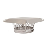 Liner Cap, Stainless, Round, 6