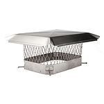 Draft King Chimney Cover, Stainless, 9 x 18
