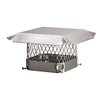 Draft King Chimney Cap, Stainless, 5/8