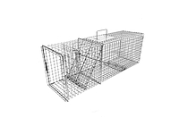 108F - Flush Mount Raccoon, Woodchuck / Groundhog Trap with One Trap Door