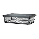 "BigTop Chimney Cover, Black Galvanized, w/14"" Mesh, 17 x 29"