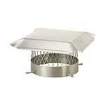 Draft King Chimney Cover, Stainless, Round, 12