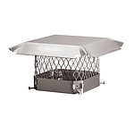 Draft King Chimney Cap, Stainless, 9 x 9