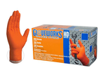 AMMEX HD Nitrile Disposale Gloves - Orange XL